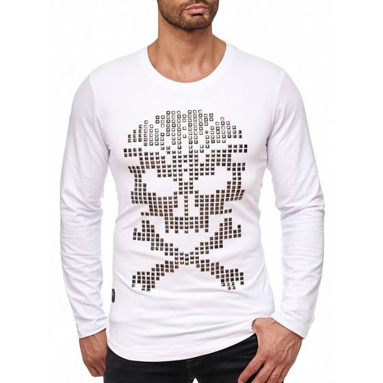 Red  Bridge Herren Rivets Skull Motiv Pullover Sweatshirt...