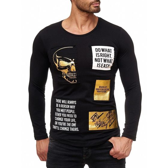 Red Bridge Mens Golden Rules Design Longsleeve Pullover...