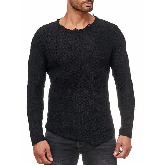 Red Bridge Herren Asymmetric Knit Strickpullover Pullover...