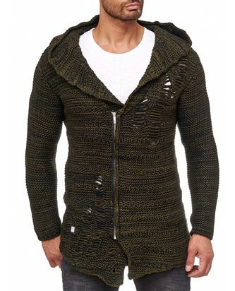 Red Bridge Herren Grobstrick Destroy Strickjacke...