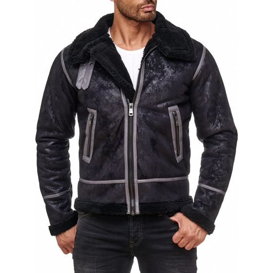 Red Bridge Herren BALBOA Jacke Winterjacke Fellkragen...