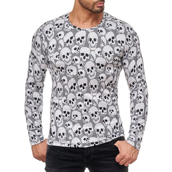 Red Bridge Men all over Skull Knit Sweater Longsleeve. 1d2439f513