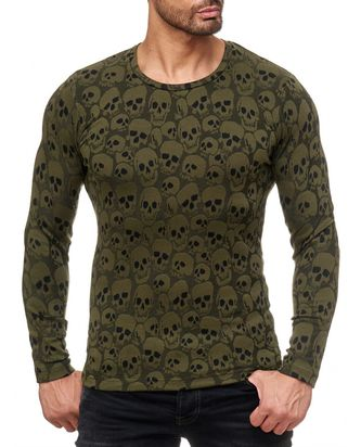 Red Bridge Herren all over Skull Strickpullover...