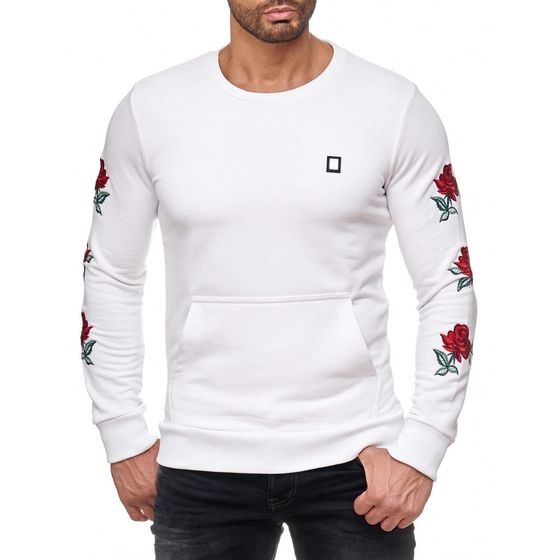 Red Bridge Herren Red Rose Flower Pullover Sweatshirt...