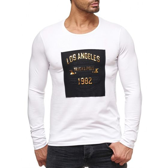 Red Bridge Herren golden LOS ANGELES Longsleeve Pullover...