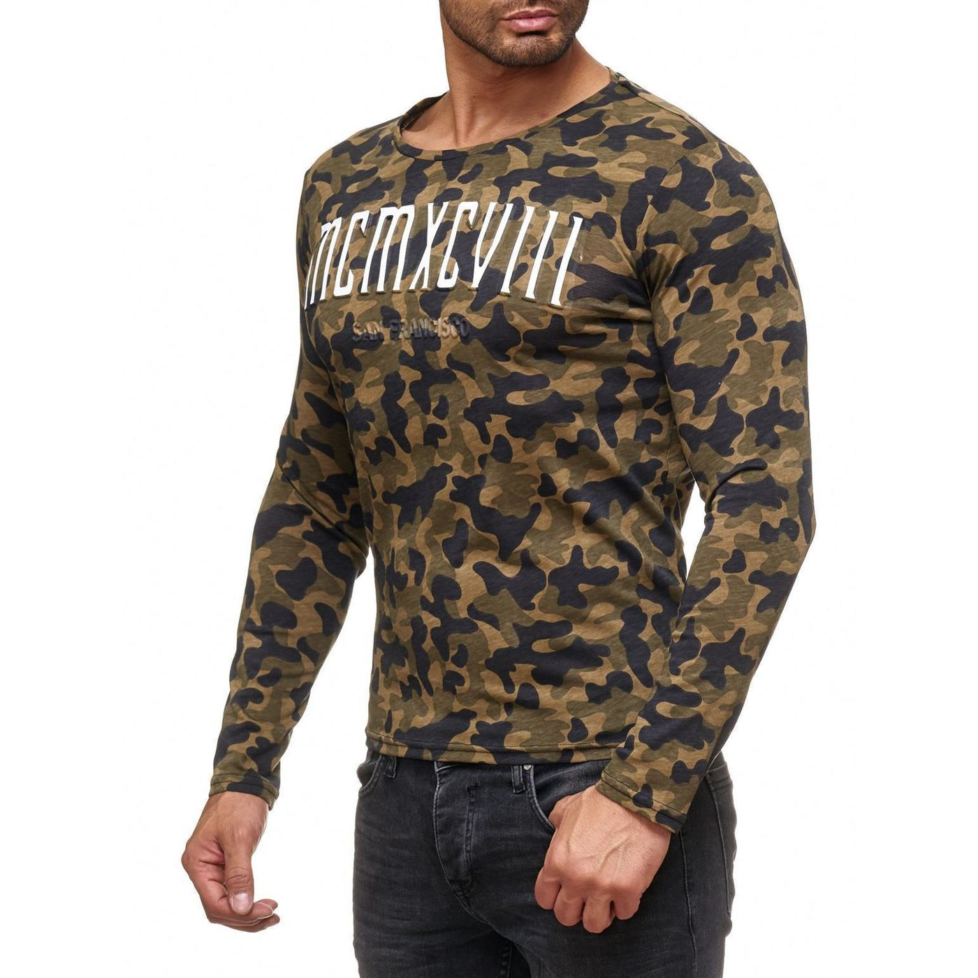 red bridge herren muscle camo mcmxcviii longsleeve. Black Bedroom Furniture Sets. Home Design Ideas