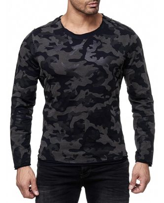 Red Bridge Herren mystery black Camo Longsleeve Pullover...