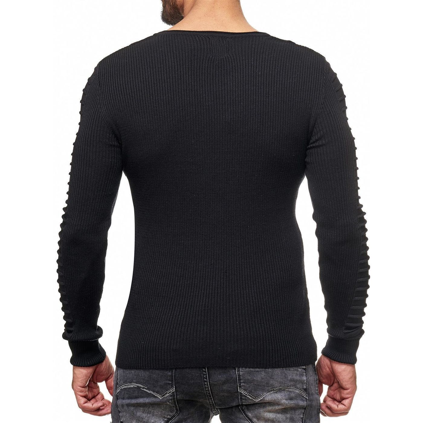 Red Bridge Mens Longsleeve Jumper Basic Roll Neck Ribbed Casual Fashion Pullover