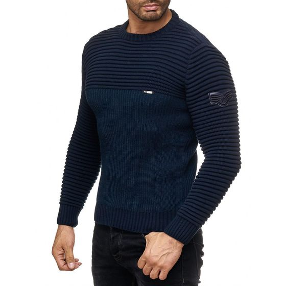 Red Bridge Men Classic Pilot Army Officer Knitted Sweater...