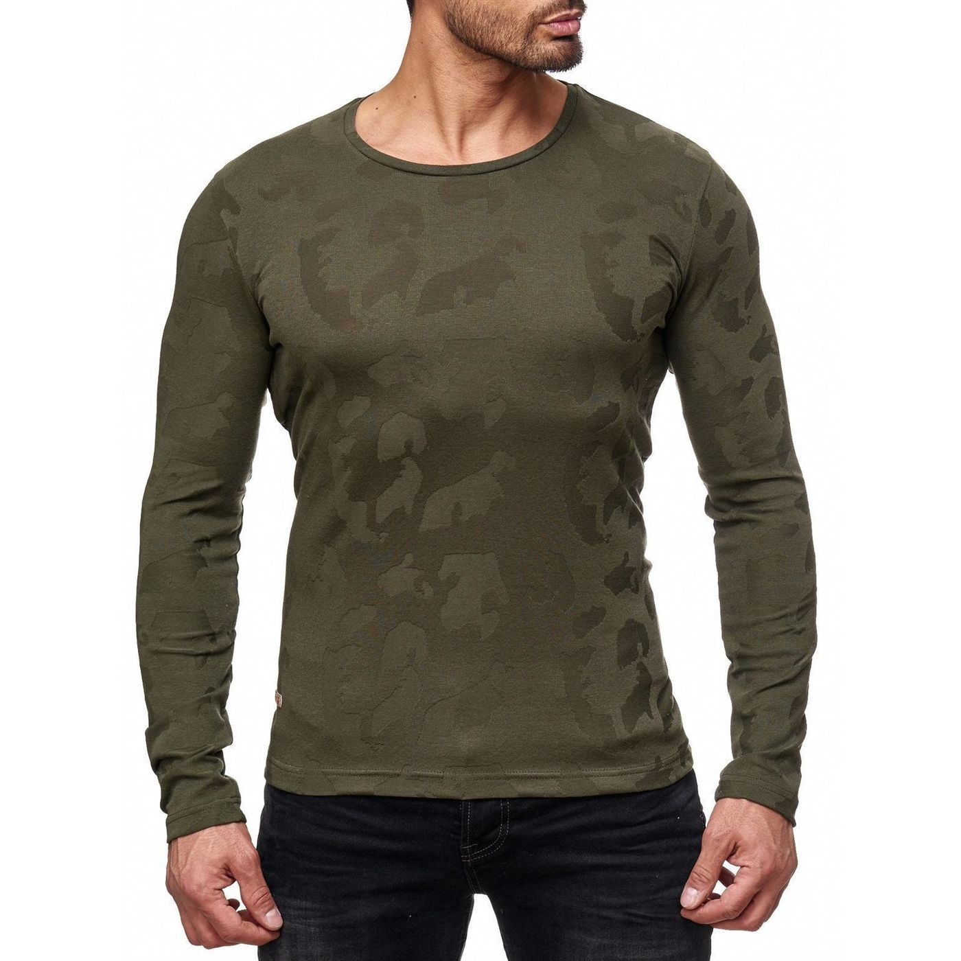 red bridge herren fine camo effect longsleeve pullover. Black Bedroom Furniture Sets. Home Design Ideas
