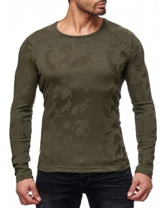 Red Bridge Herren fine Camo Effect Longsleeve Pullover...