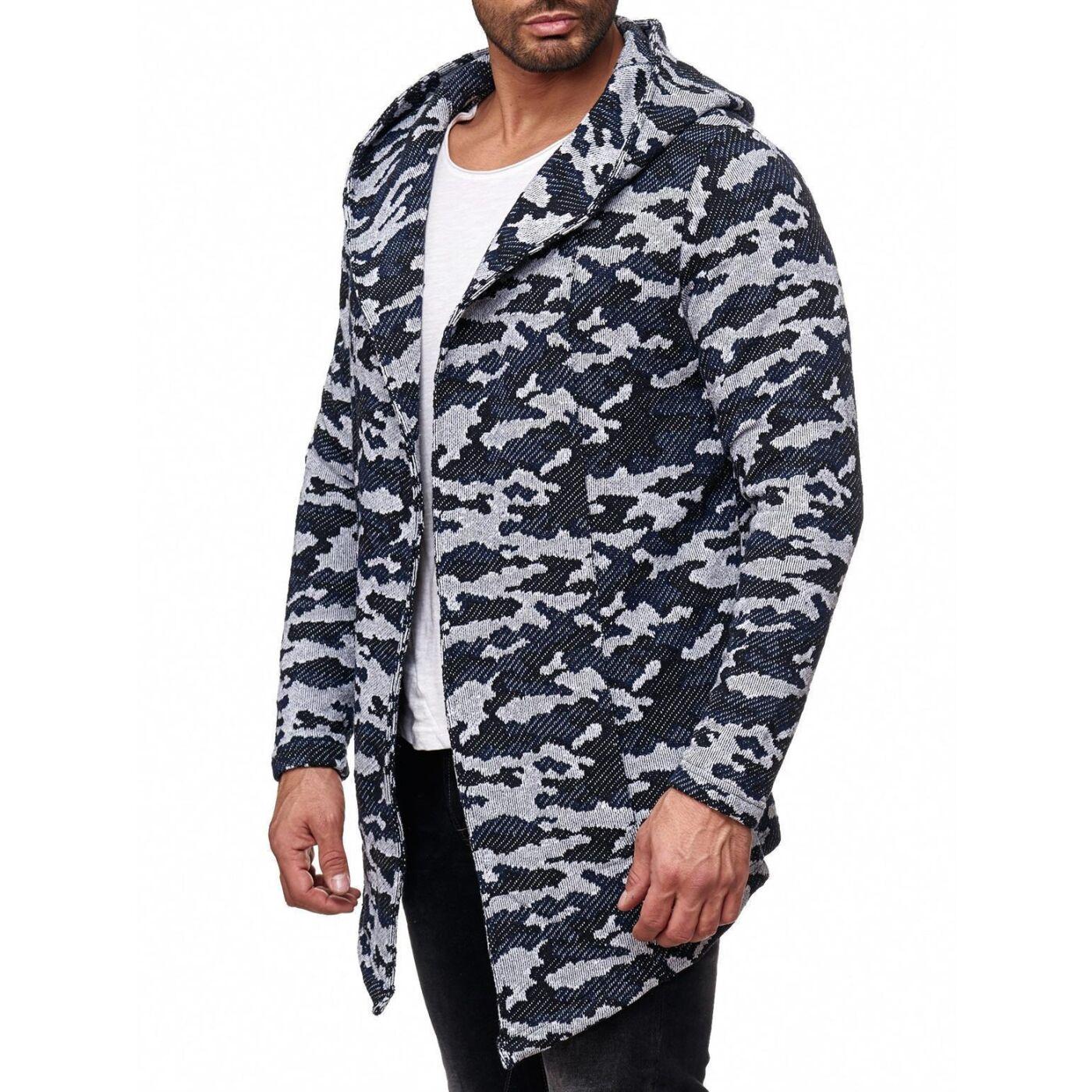 Kapuze Strickjacke Sweatshirt ohne Basic Winter Reißverschluss zu Details Herren Pullover tCsQrhdxB