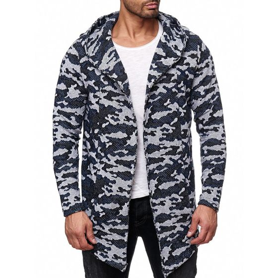 Red Bridge Herren Camo Cardigan Strickjacke ohne...