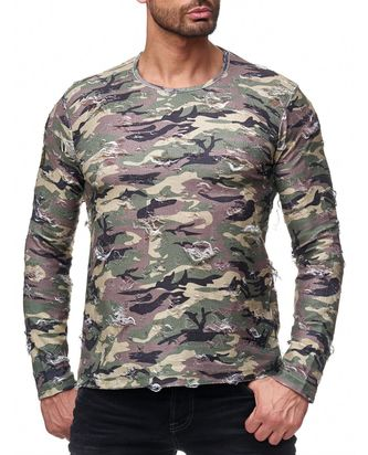 Red Bridge Herren Longsleeve Sweatshirt Destroyed Army...