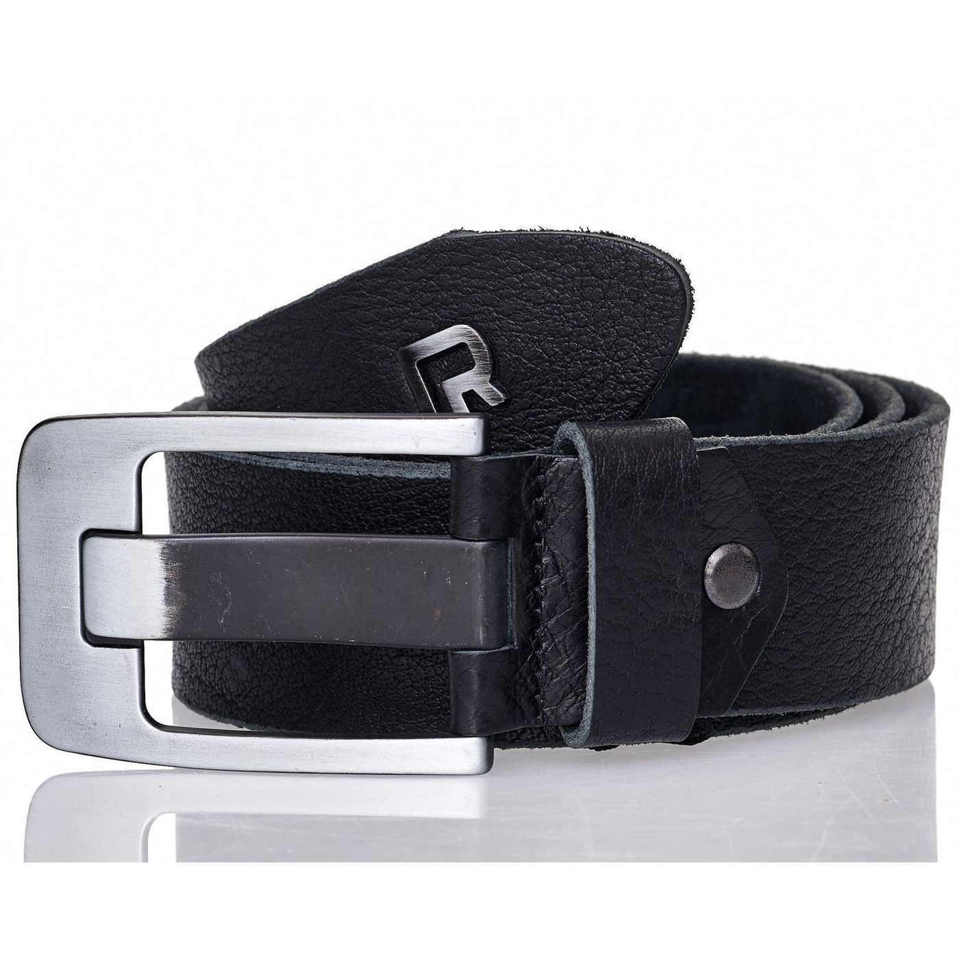 0b646500eca1e4 Red Bridge Herren Gürtel Ledergürtel Echtleder Leather Belt RBC Premium  Schwarz-1