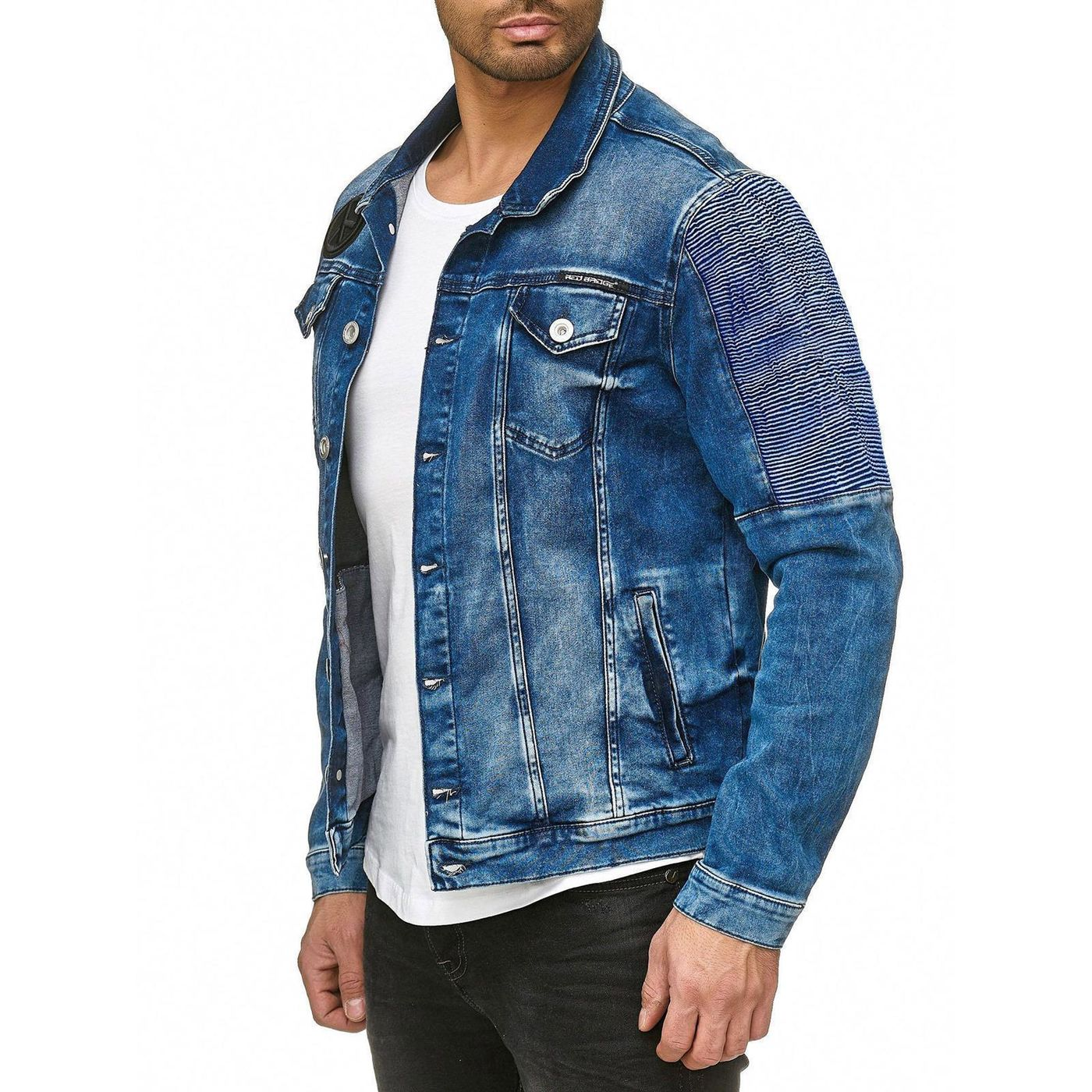 red bridge herren jeansjacke bergangsjacke rbc blue denim blau m6058 64 99. Black Bedroom Furniture Sets. Home Design Ideas
