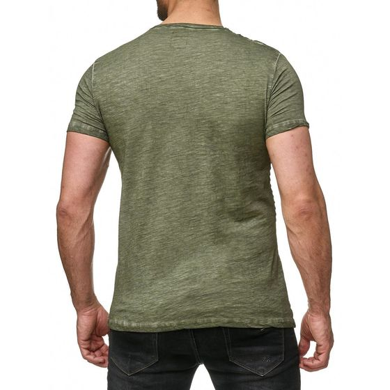 Red Bridge Herren T-Shirt Vintage Oil Washed Ribbed