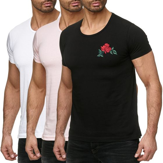 Red Bridge Herren T-Shirt Stiched Chest Flower