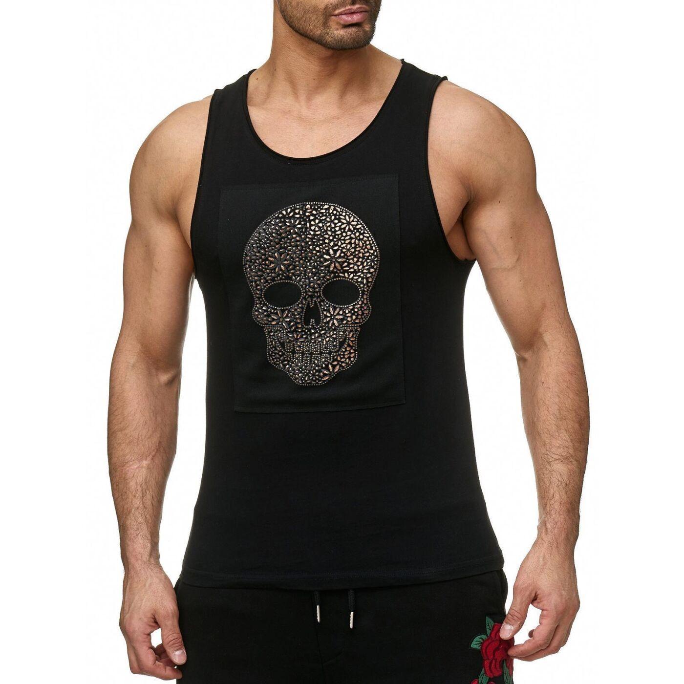 red bridge herren tank top t shirt luxury skull 3d print. Black Bedroom Furniture Sets. Home Design Ideas