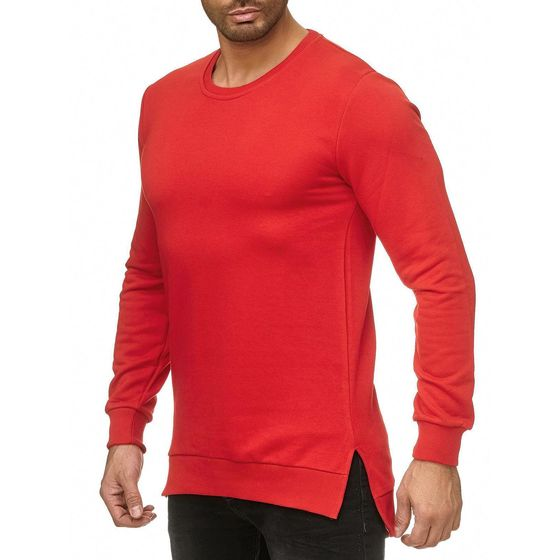 Red Bridge Herren Pullover Sweatshirt Longshirt Premium Basic