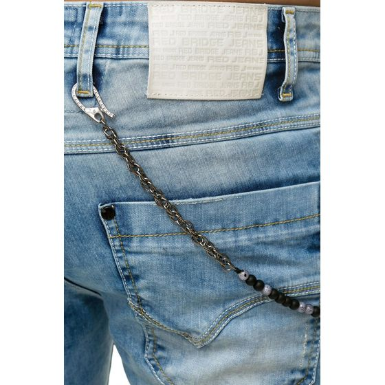 Red Bridge Herren Jeans Hose Patched Chain Hellblau