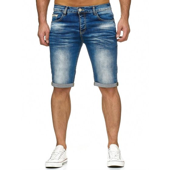 Red Bridge Herren Jeans Short Kurze Hose Denim Basic Blau