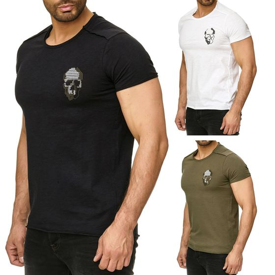 Red Bridge Herren T-Shirt Cross Stiched Skull