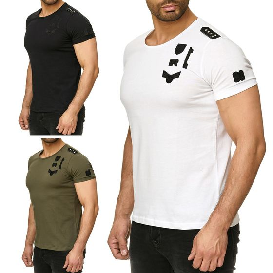 Red Bridge Herren T-Shirt Redbridge Army Schulterpatch...