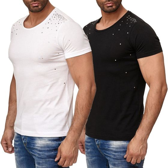 Red Bridge Herren T-Shirt Snowfall mit Nieten