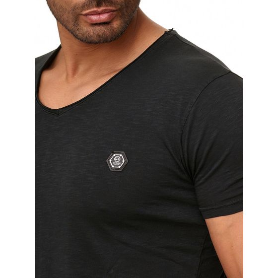 Red Bridge Herren V-Neck T-Shirt Schwarz