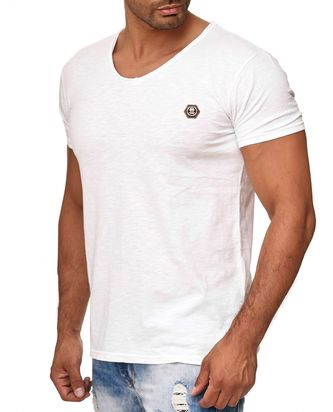 Red Bridge Herren V-Neck T-Shirt Weiß