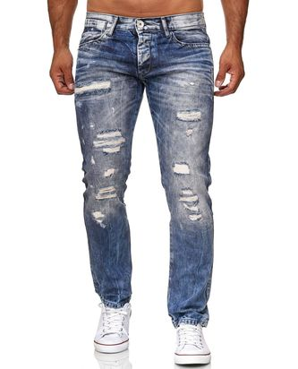 Red Bridge Herren Jeans Hose Destroyed Denim Röhrenjeans...