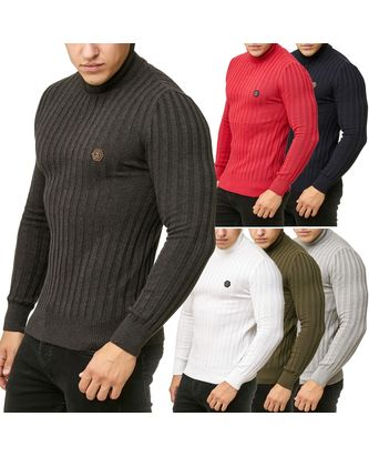Red Bridge Herren Strickpullover Rollkragen- Pullover...