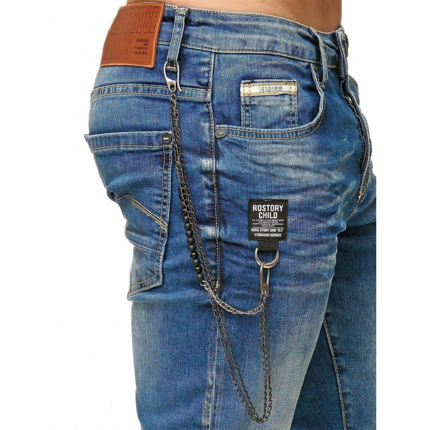 Red Bridge Herren Jeans Short Kurze Hose Denim Side Patch