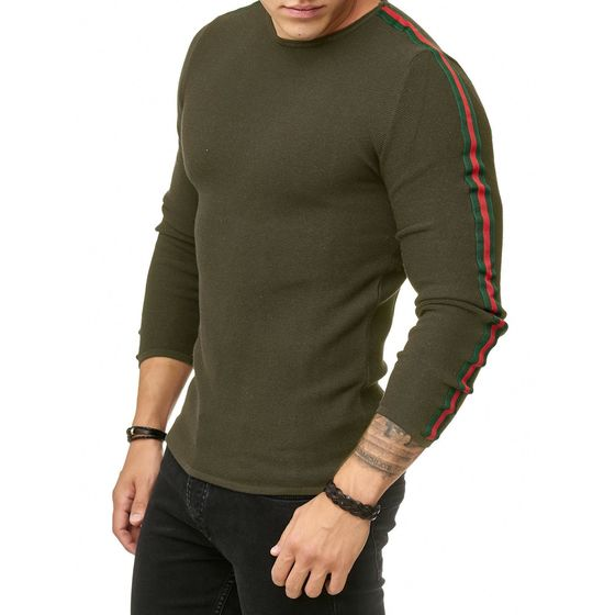 Red Bridge Mens Knitted Sweater Luxury Line Pullover