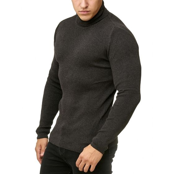 Red Bridge Herren Strickpullover Rollkragen- Pullover Soft Basic