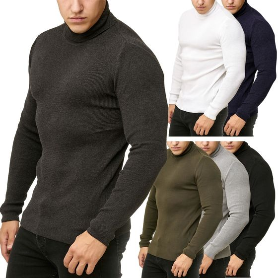 Red Bridge Mens Knitted Pullover Turtleneck Sweater Soft...