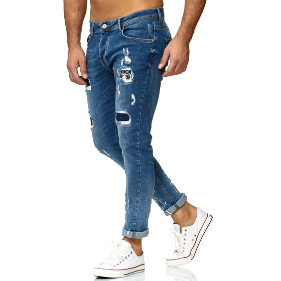 Red Bridge Herren Jeans Hose Regular-Fit Ripped Frayed Destroyed Weapon Choice