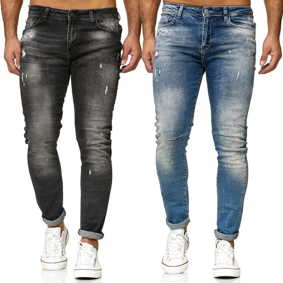 Red Bridge Herren Jeans Hose Slim-Fit Ripped Redemption