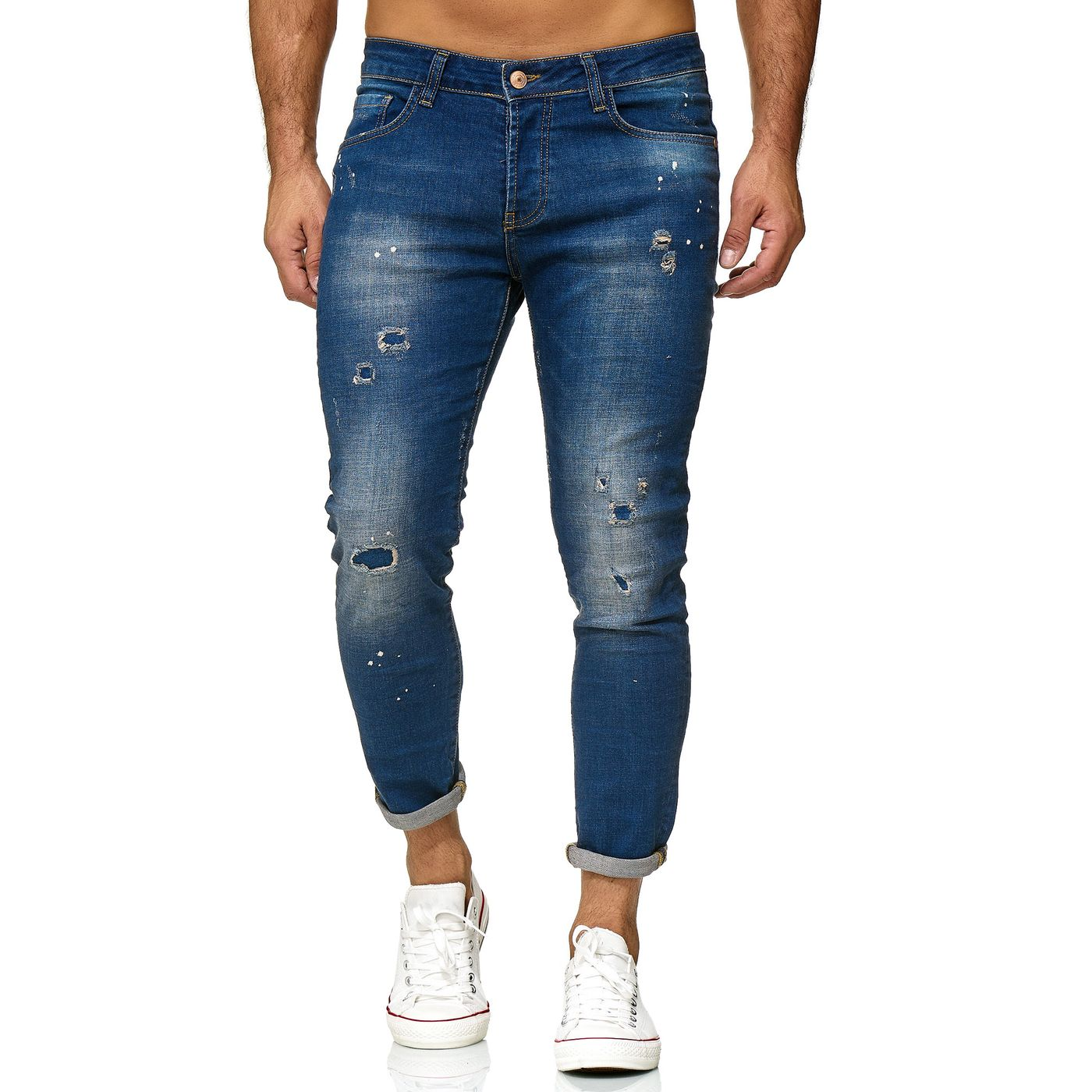 herren jeans red bridge herren jeans hose slim fit ripped painted destroyed  slim fit ripped painted destroyed