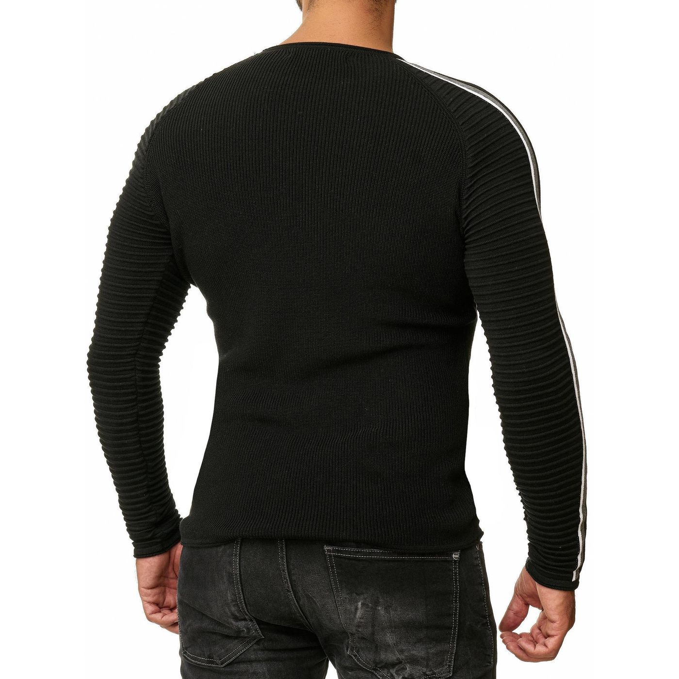 f701d1ebd Red Bridge Herren Strickpullover Ribbed Striped Pullover M3089 ...