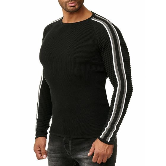 Red Bridge Herren Strickpullover Ribbed Striped Pullover