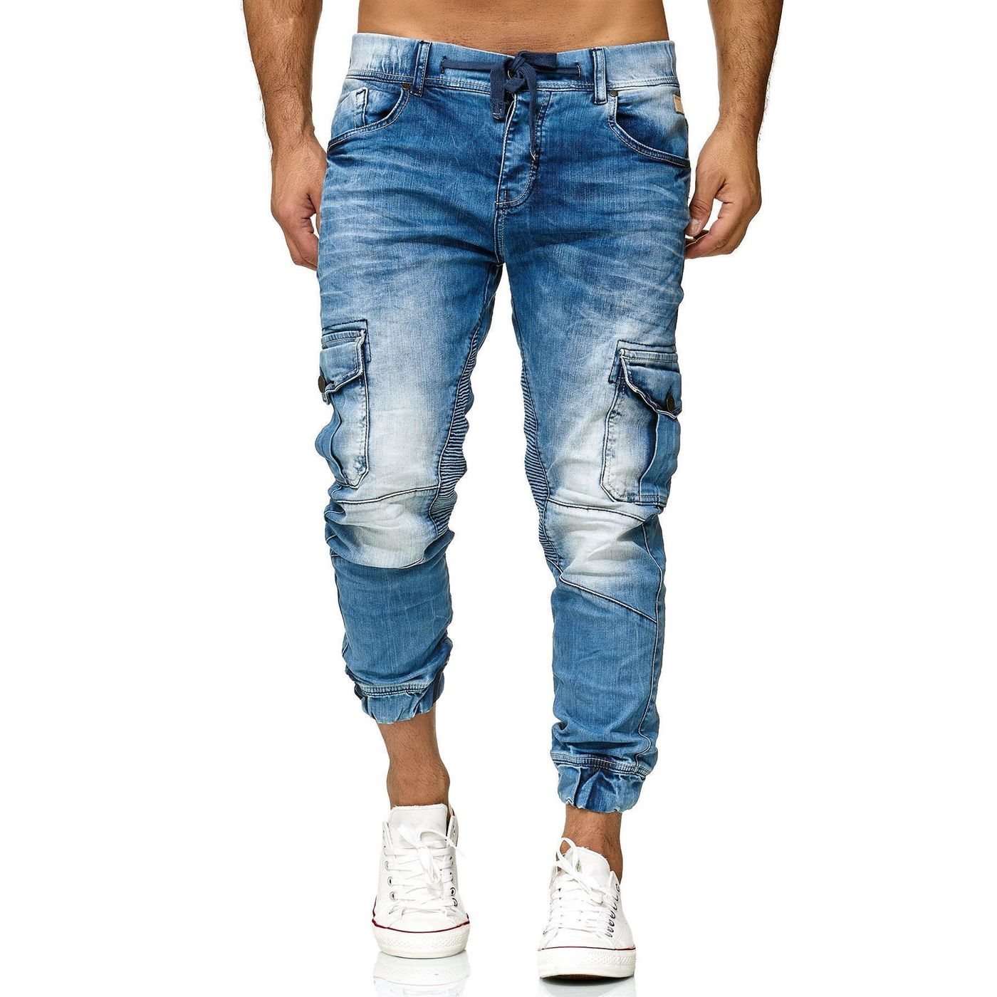6cdc07c4d1b109 Red Bridge Mens Joggers Denim Jeans Pants Cargo Pants Narrow Leg Jeans Slim  Leg