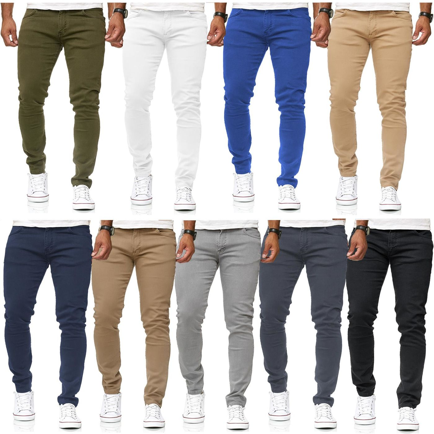 6ca25230cfbe77 Red Bridge Men's Jeans Denim Pants Slim Fit Skinny Jeans Denim Colored
