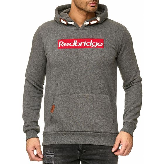 Red Bridge Mens Big Box Logo Redbridge Hoodie Pullover...