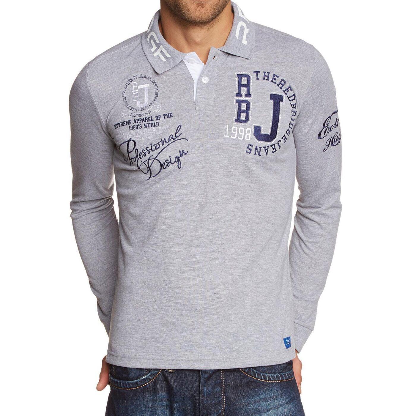 b474df208 Red Bridge Mens Slim-Fit Longsleeve Polo Shirt Long Sleeve Collar Logo  Print Cotton