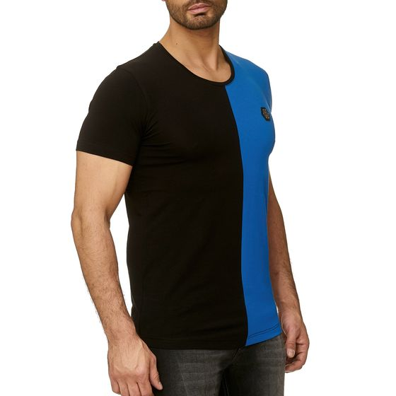 Red Bridge Mens Slim Fit Sheer Half T-Shirt