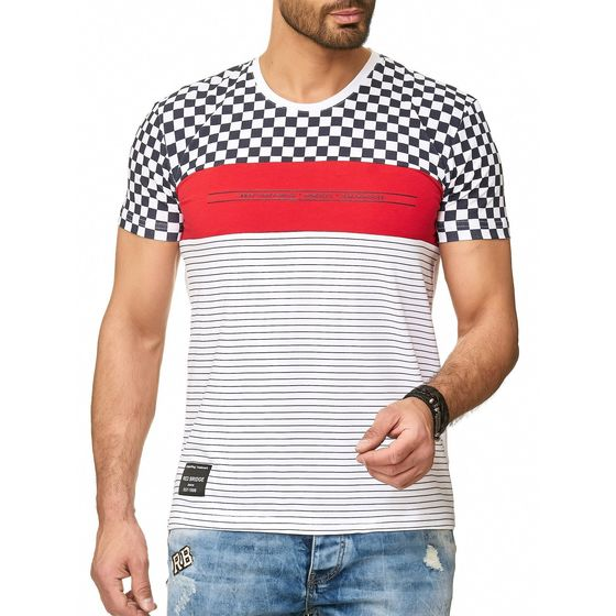 Red Bridge Herren T-Shirt Born to be Famous Racing Stripes
