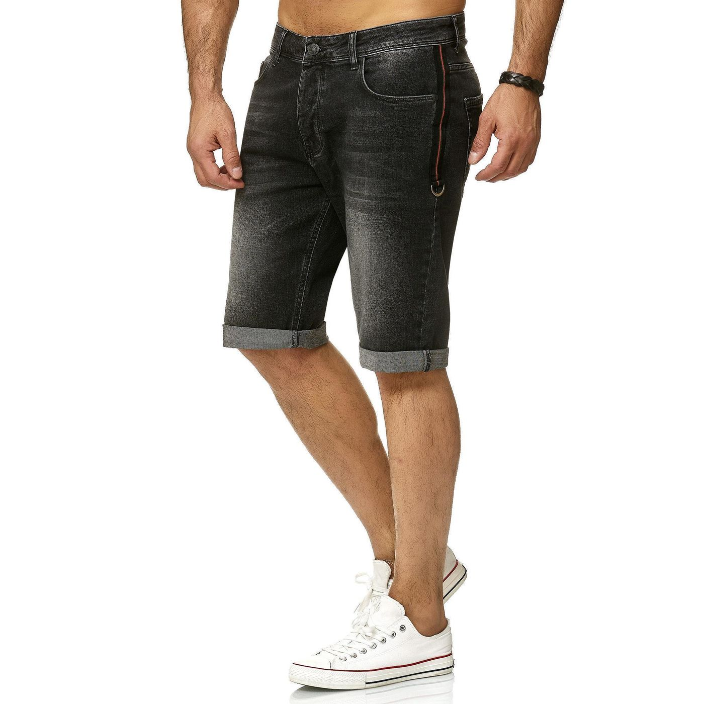 Red Bridge Herren Jeans Shorts Kurze Hose Denim Capri Side