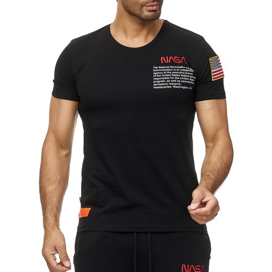 Red Bridge Herren T-Shirt NASA Logo USA Spaceshuttle